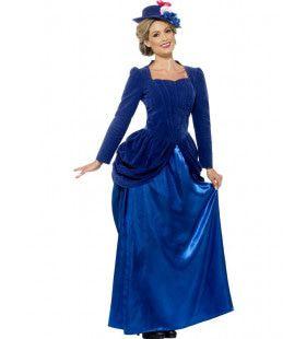 Victoriaanse Ronde Dame Luxe Vrouw Kostuum
