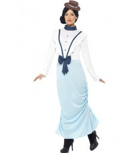 Zondagse Victoriaanse Dame Vrouw Kostuum