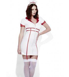 Erotische Wetlook Verpleegster Vrouw Kostuum