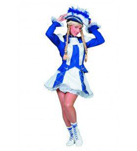 Showmeisje Dansmarietje Bi-Stretch, Blauw Vrouw Kostuum