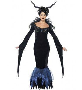 Lady Raven Vrouw Kostuum