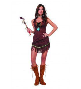 Starende Zwaluw Indiaanse Met Veertje Vrouw Kostuum