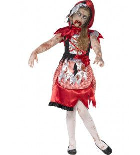 Zombie Roodkapje Meisje Kostuum