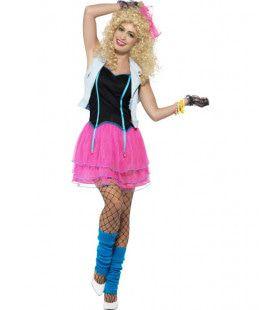 80s Popster Vrouw Kostuum