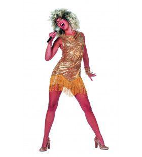 Jurk Tina Turner 80s Rock Vrouw