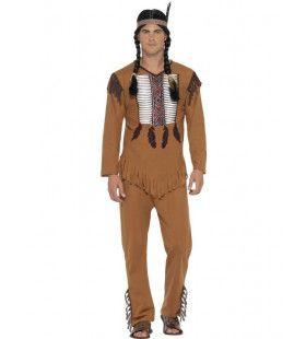 Indiaan Leider Buffel Man Kostuum
