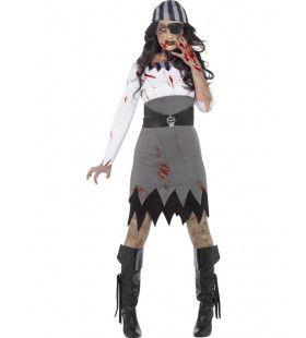 Zombie Pirate Roxella Vrouw Kostuum