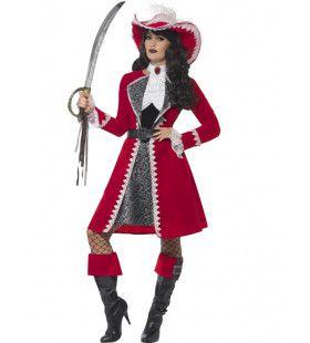 Luxe Kapitein Mevrouw Bernadetta Kostuum