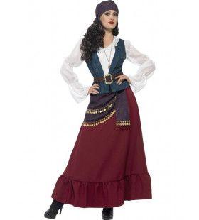 Luxe Piraat Lang Mevrouw Angletta Kostuum