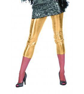 Bling Gouden Legging Vrouw