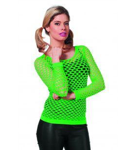 Spannend Netshirt Lange Mouw Groen