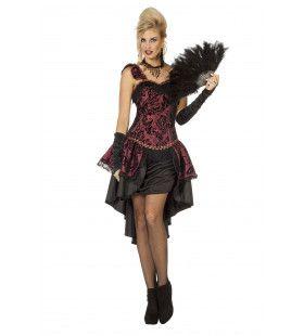Kitty Queen Burlesque Vrouw Kostuum