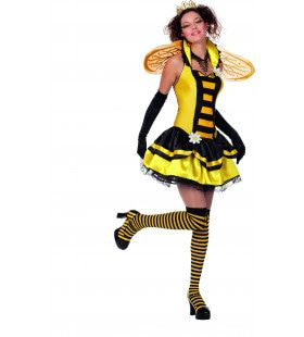 Buzzing Bijenkoningin Vrouw Kostuum