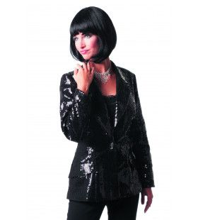 Showmaster Paillettencolbert Luxe Zwart Vrouw