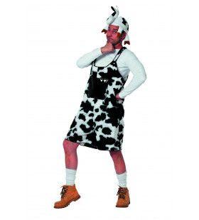 Hilarische Latzhose Koe Man Kostuum