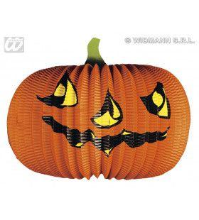 Halloween Deco Pompoen Lampions, 40cm Doorsnee