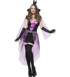 Gevaarlijk Fraaie Duistere Koningin Vrouw Kostuum