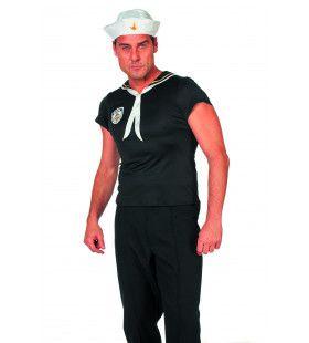 Sexy Mannen Sailorshirt Kostuum