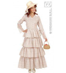 Victoriaanse Dame, Bloemen Motief Ms Decent Vrouw Kostuum