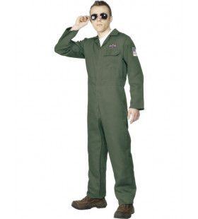 Piloot Man Kostuum