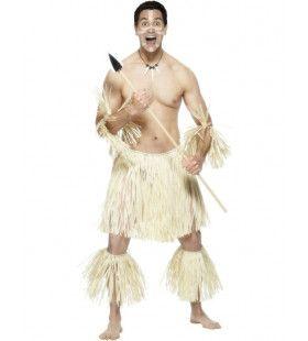 Moedige Zoeloe Strijder Man Kostuum