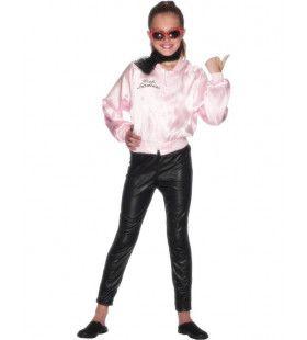 Officieel Grease Roze Dame Jasje Meisje Kostuum