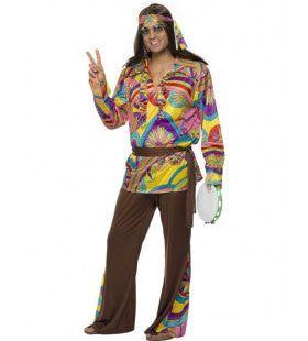 Psychedelisch Mannen Hippie Man Kostuum