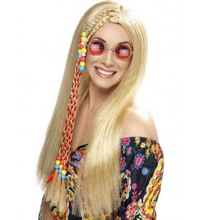 Hippie Blonde Pruik