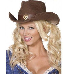 Wilde Westen Cowgirl Hoed Volwassen