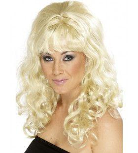 Blonde Beehive / Jaren 80 Pruik