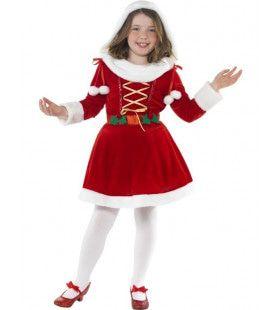 Kleine Kerstvrouw Meisje Kostuum