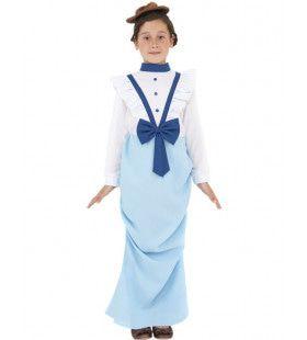 Chique Victoriaans Meisje Kostuum