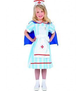 Vintage Verpleegster Meisje Kostuum