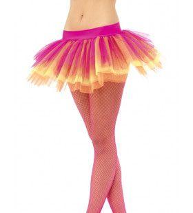 Neon Multikleur Tutu Vrouw Kostuum