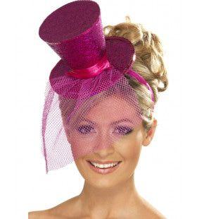 Mini Glitter Hogehoed Roze Vrouw