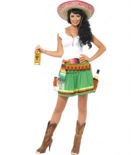 Tequila Serveerster Vrouw Kostuum
