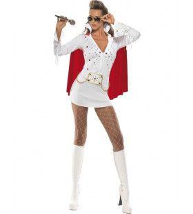 Sexy Elvis Jurk & Cape Vrouw