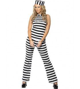 Vrouwelijke Gevangene Kostuum Met Broek Vrouw