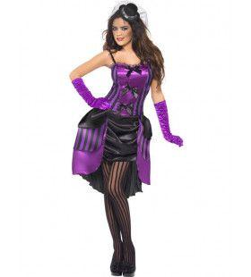 Sexy Burlesque Vrouw Kostuum