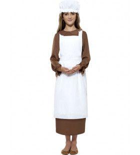 Kind Victoriaanse Keukenhulp Kit Meisje Kostuum