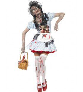 Zombie Dorothy Vrouw Kostuum
