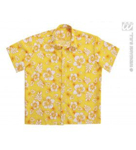 Hawaii Shirt Geel Man Kostuum