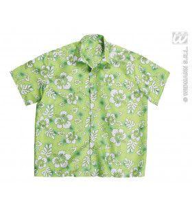 Hawaii Shirt Groen Man Kostuum