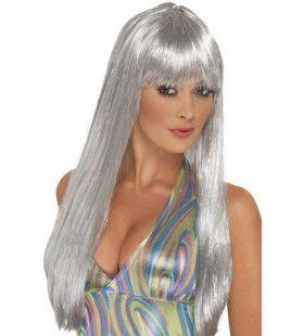 Glitter Disco Pruik Vrouw