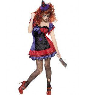 Cirque Sinister Bo Bo The Clown Vrouw Kostuum