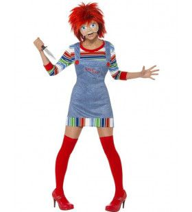 Miss Chucky Halloween Vrouw Kostuum