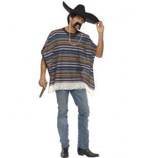 Authentieke Poncho Volwassen Kostuum