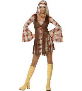 Jaren 70 Hippie Met Franje Vrouw Kostuum
