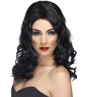 Glamour Pruik Zwart