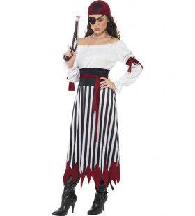 Pirate Met Lange Rok Vrouw Kostuum